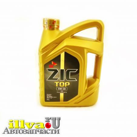 Моторное масло полностью синтетическое ZIC 5W-30 TOP C3 SN/CF 4 литра