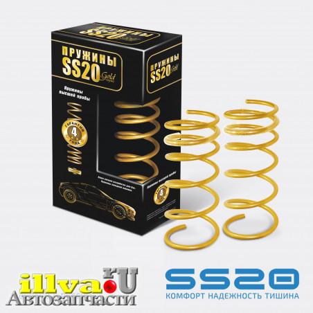 Пружины задние SS20 Gold Progressive для автомобилей ВАЗ 2123, 21236 Шевроле Нива (2шт.) (SS20.155.00.001-03) ( холодной навивки, переменный шаг) SS30130