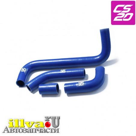 Патрубки системы охлаждения ВАЗ 2101, 2107 алюминиевый радиатор, синий силикон CS-20 Profi 06898