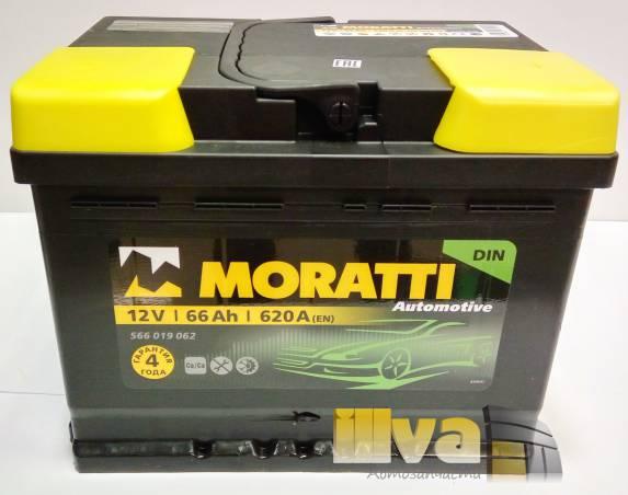 Автомобильный аккумулятор Moratti 66 А/ч, обратная полярность, 12В, 620A (EN) 566 019 062