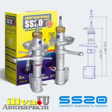 Амортизаторы передние SS20 тип Спорт  для автомобилей Приора ВАЗ 2170, 2171, 2172, 21708, 21728, ( 2 шт. ), ( SS20.19П/Л.00.000-04 ) SS20120