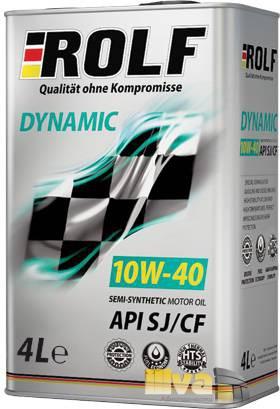 Моторное масло 10W40 ROLF Dynamic полусинтетическое SJ/CF 4 литра