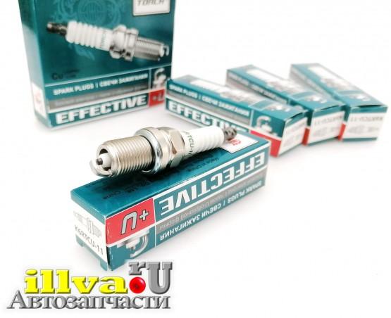 Свечи зажигания ваз 2112, Калина, Гранта, Приора двс 16 кл цена за 4 шт Effective K6RTCU-11