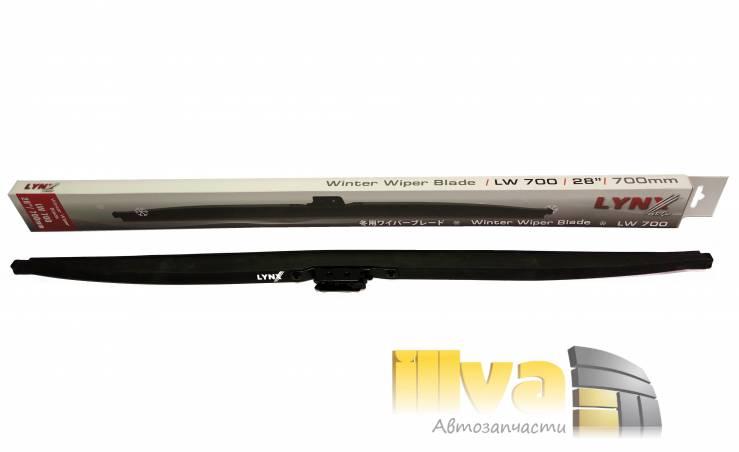 Зимние щетки стеклоочистителя LYNXauto 28'' - 700 мм (LW700,  Япония, каркасные, крючок)