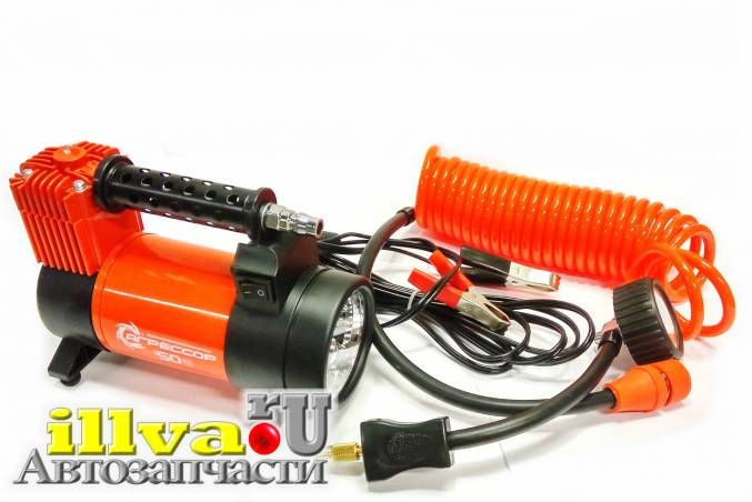 Компрессор автомобильный Autoprofi Агрессор 50 литров в минуту до 10 атм 280 Вт Хит Продаж AGR-50L
