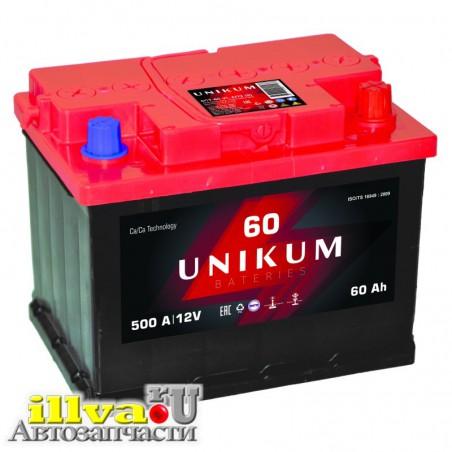Аккумулятор UNIKUM, акб unikum 60 Ач 6СТ-60.1 VL обратная полярность
