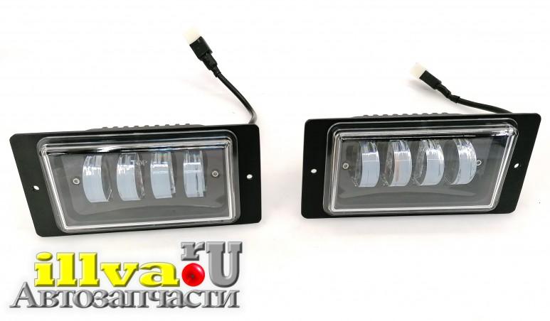 Противотуманки - ПТФ - противотуманные фары LED на ВАЗ 2114, 2110, 2112, 2115 - однорежимные - Белый свет - 40W