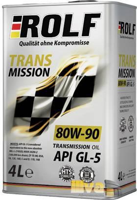 Трансмиссионное масло для МКПП 80W-90 ROLF Transmission 4 литра