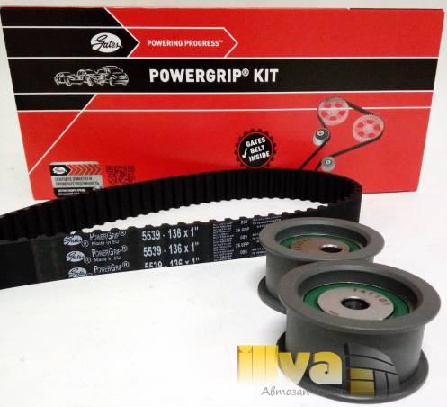 Комплект ГРМ GATES k015539 - ремень 136 зубьев на ВАЗ 2110 - 2112, 16кл.-Калина