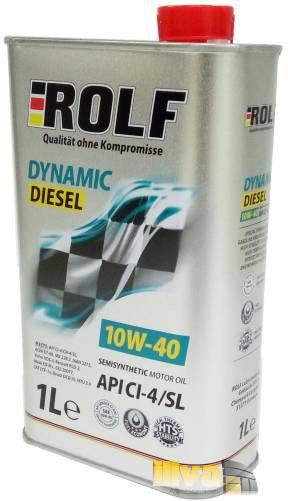 Моторное масло 10W-40 ROLF Dynamic Diesel полусинтетическое CI-4/S 1 литр