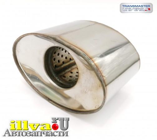 Пламегаситель коллекторный овальный с конусом из нержавеющей стали, размер овала 100х160, L = 100мм, d=60мм Transmaster universal 00.140OV