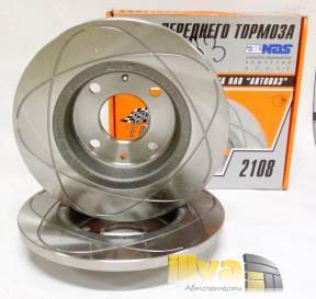 Тормозные диски передние ВАЗ 2108  R13  Алнас Cпорт Евро 2шт