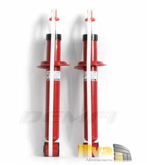 Амортизаторы задние ДЕМФИ Премиум газовые с занижением -70 мм ВАЗ 2108 2110 1119 Калина 2170 Приора 2190 Гранта Датсун on-DO и mi-DO (2шт.) 2190-2915004-70