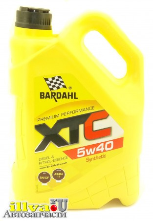 Моторное масло BARDAHL (Бардаль) 5W40 XTC SN/CF (синтетика) 5 литров,  36163