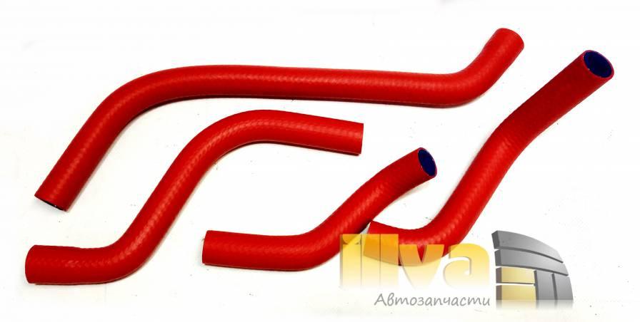 Патрубки отопителя - печки силикон + каучук, усиленные PANTUS A-sport, ВАЗ 2108 (комплект 4 шт)
