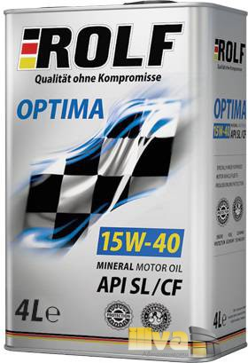 Моторное масло 15W40 ROLF Optima минеральное SL/CF 4 литра