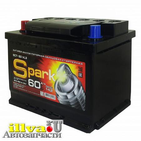 Аккумулятор Spark 60А/ч сила тока 460А  прямая полярность