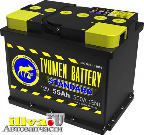 Аккумулятор автомобильный Тюмень  55 А/ч прямая полярность ток 500