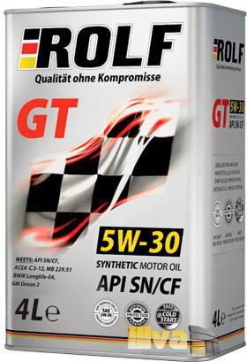 Моторное масло 5W30 ROLF GT синтетическое SN/CF 4 литра