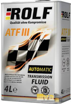 Трансмиссионное масло ROLF ATF III 4 литра