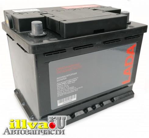 Аккумулятор LADA емкость 64 Ач Lada Largus, Xray ток 620A тк Аком размер акб 242 х 175 х 190 артикул 8450023055