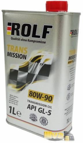 Трансмиссионное масло для МКПП 80W-90 ROLF Transmission 1 литр