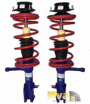 Стойки в сборе передние Демфи газовые с пружинами с занижением -30мм для ВАЗ 2108 - 2109, 2113 - 2115 (2шт)