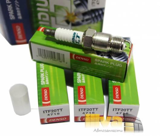 Свечи зажигания DENSO ITF20TT иридиевые с платиновым заземлением (цена за 1шт), Япония (denso iridium TT)