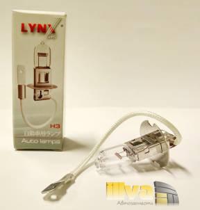 Лампа H3 12v 100W PK22S (1шт) LYNXauto, L10300