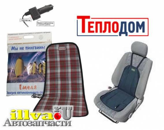 Подогрев сидений Емеля 2 с кнопочным  регулятором, накидка на сидения Теплодом 40x80 см