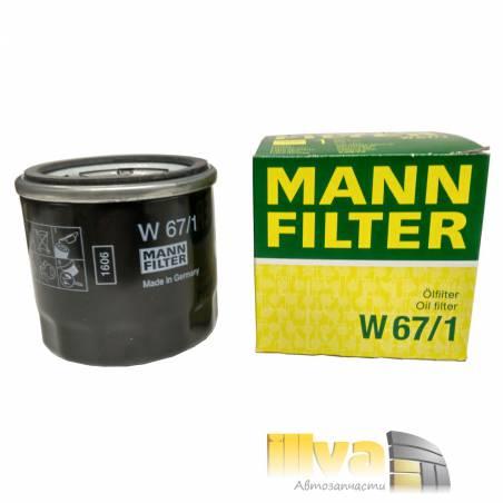 Фильтр масляный MANN  W67/1 Nissan, Subaru, Mazda, Infiniti, Kia
