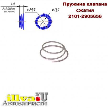Коническая пружинка для нижнего клапана сжатия амортизаторных стоек, пружина клапана сжатия для ВАЗ 2108 2109 2110 2111 2112 (1шт.) (2101-2905656)