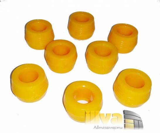 Втулка заднего амортизатора ВАЗ 2101-2107, 2121, 2131, конусная, полиуретан, Балаково, комплект 8шт.