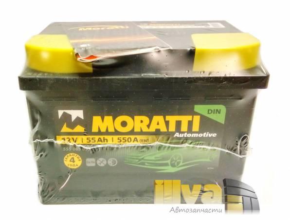 Автомобильный аккумулятор Moratti 55 А/ч, прямой полярность, 12В, 550A (EN) 555 059 055