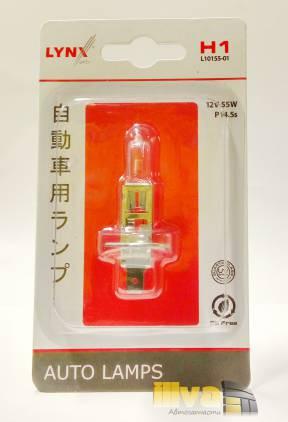 Лампа H1 12v 55W P14,5s (блистер, 1шт) LYNXauto, L1015501