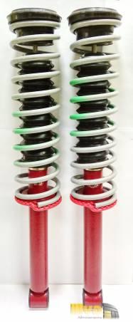 Задние амортизаторы ЭластоМаг на ВАЗ 2110 - 2170, собранный комплект подвески