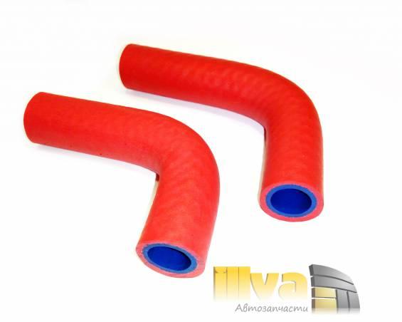 Патрубки отопителя - печки силикон + каучук, усиленные PANTUS A-sport, ВАЗ 2121 НИВА (комплект 2 шт)