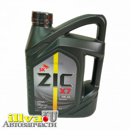 Моторное масло ZIC  5W-40 X7 синтетическое 4 литра 162662