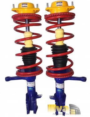 Стойки Демфи в сборе, передние, газовые с пружинами Технорессор -30мм для ВАЗ 2110 - 2112 (2шт)