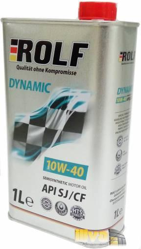 Моторное масло 10W40 ROLF Dynamic полусинтетическое SJ/CF 1 литр