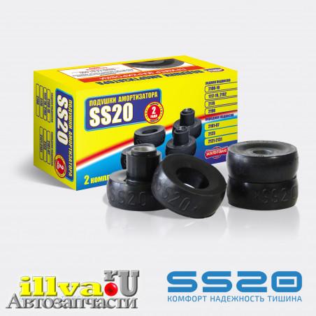 Подушки втулки заднего амортизатора SS20 бублики ВАЗ 2108, 2110 и 2101, 2121(переднего) (2 шт.) (SS20.74.00.000) SS62101