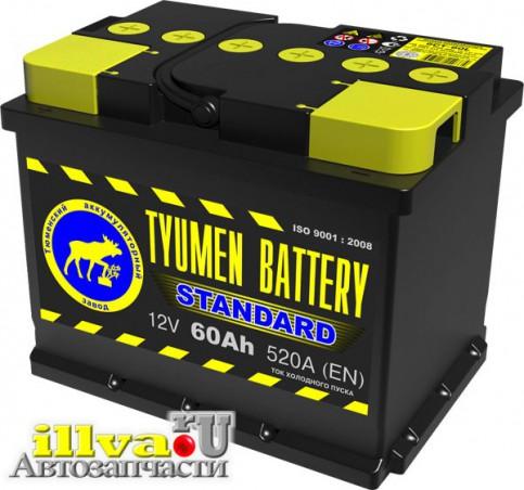 Аккумулятор Тюмень 60 А/ч, прямая полярность, 12В, 520A (EN) 6CT-60L