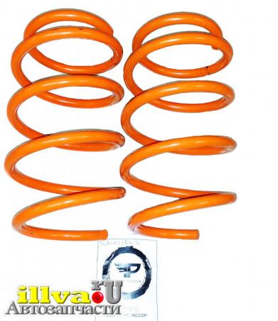 Пружины передние бочкообразные Технорессор с занижением -50 мм на автомобили Hyundai Solaris, Kia rio
