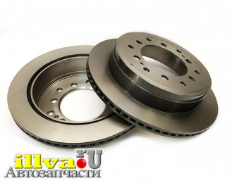 Диски тормозные задние LEXUS GX, TOYOTA LAND CRUISER PRADO 150 Brembo UV Coated, комплект 2 диска, 09.A334.21